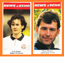 Bolton Wanderers Andy Walker Scotland Manchester United Bryan Robson England